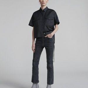 RAG & BONE Iver Cropped Jeans in Black Bain 24